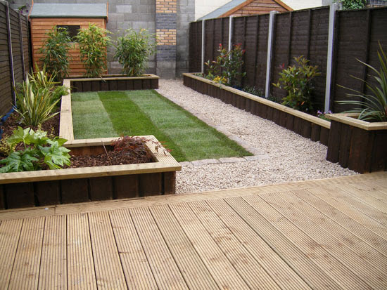 Garden Sleepers Raised Beds Worcestershire Raised Flower ...